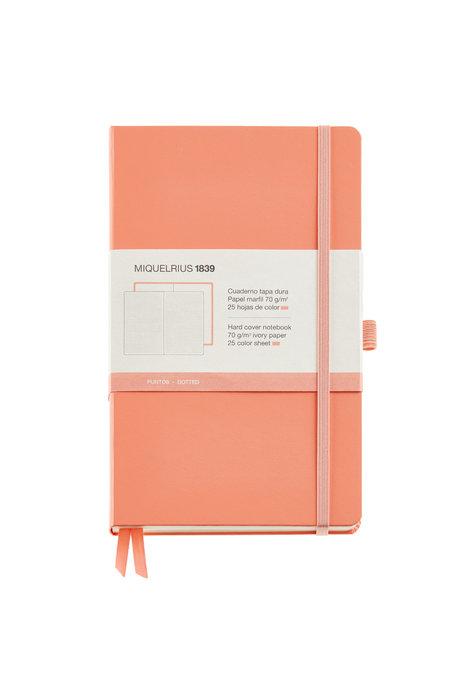 Cuaderno de notas melocoton 130x210 192 h liso simil piel