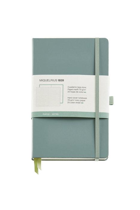 Cuaderno de notas verde 130x210 192 h liso simil piel