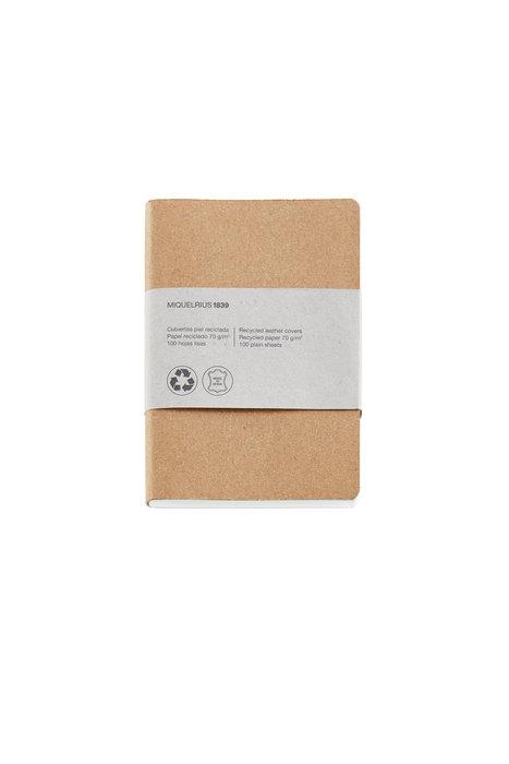 Cuaderno de notas kraft 8º 100 h liso 100% reciclado