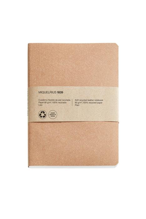 Cuaderno de notas kraft 4º 100 h liso 100% reciclado