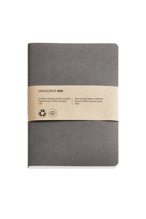 Cuaderno de notas antracita 4º 100 h liso 100% reciclado