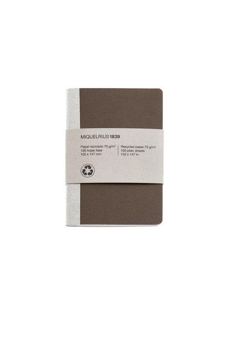 Cuaderno de notas marron 4º 40 h liso reciclado