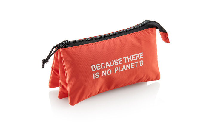 Portatodo triple nylon reciclado color naranja ecoalf