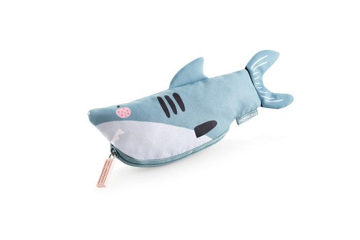 Estuche portatodo mini save the ocean tiburon mr azul
