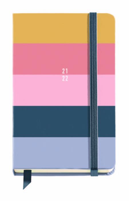 Agenda escolar  carton chromat 11,7x17,4cm dp  esp/ing