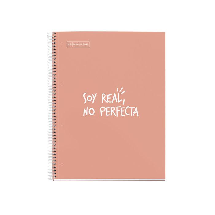Cuaderno tapa dura a4 cuadros 5mm 80h messages mr melocoton