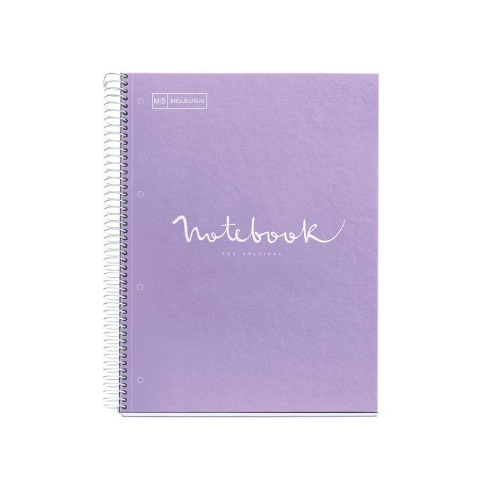 Cuaderno tapa dura a4 puntos 80h emotions lavanda