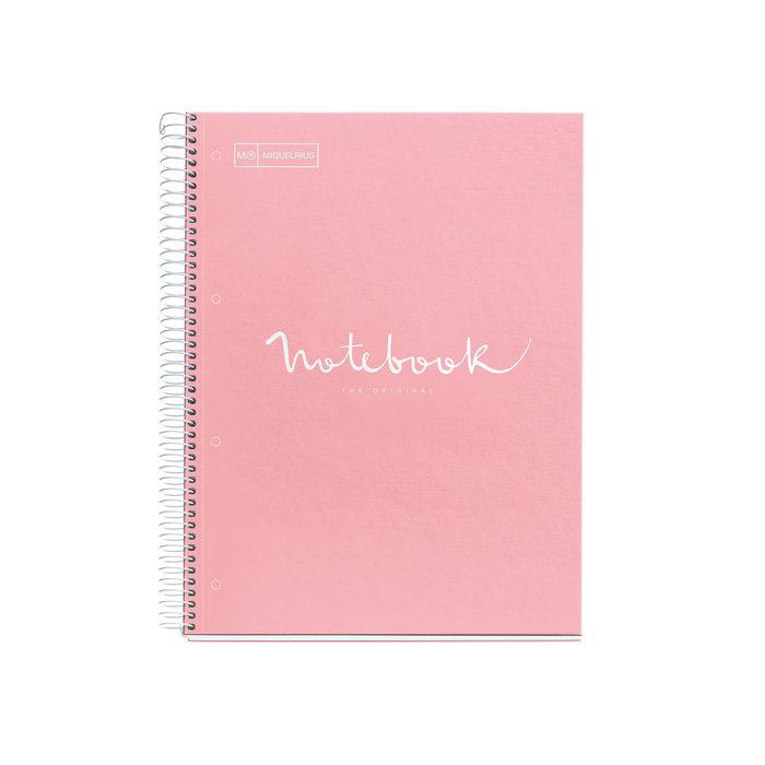 Cuaderno tapa dura a4 puntos 80h emotions rosa
