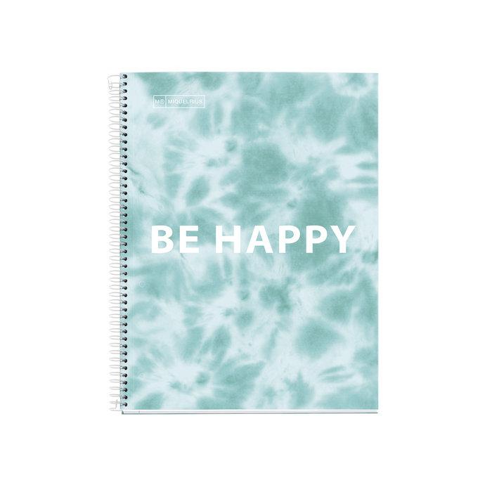 Cuaderno tapa dura a4 horizontal 120h tie dye mr azul