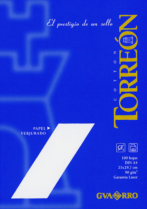 Papel torreon a4 90grs 100h blanco natural