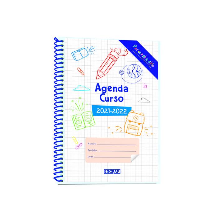 Agenda escolar 2021-2022 personalizable 4º semana vista pp
