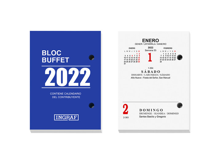 Bloc buffet ingraf castellano 2022 (10200)