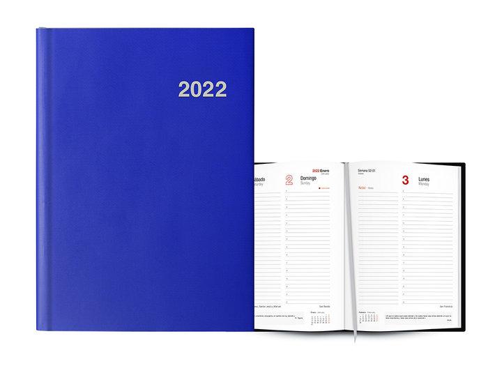 Agenda anual 2022 roma dia pagina 15x21 azul mar