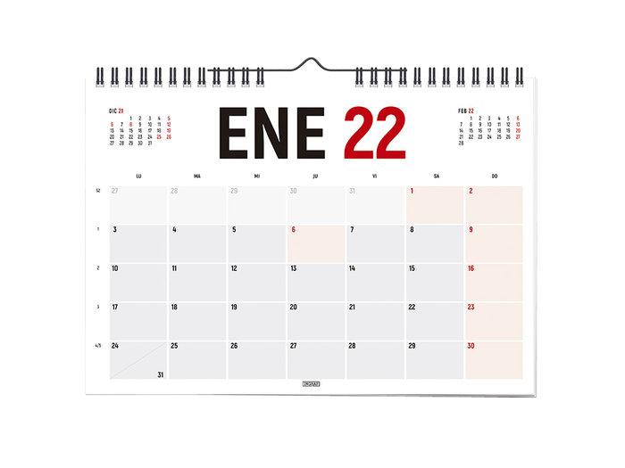 Calendario 2022 horizontal 42x30 castellano