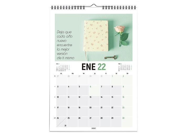 Calendario 2022 vertical 30x43 frases