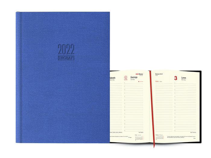 Agenda anual 2022 seul dia pagina 17x24 azul claro
