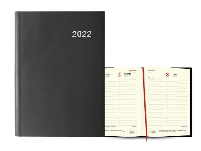 Agenda anual 2022 londres dia pagina 15x21 grafito