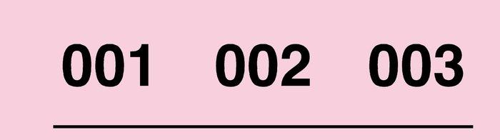 Talonario rifa tres numeros 1-1000 r-903 colores surtidos