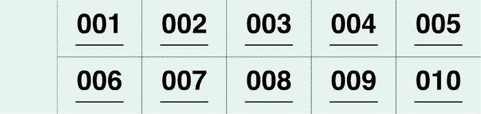Talonario rifa r-915 del 1 a 1000 dobles colores surtidos