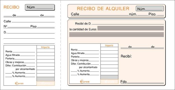 Talonario inquilinato 1/3 folio t-40 modelo especial