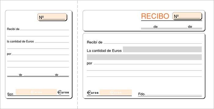 Talonario recibos 1/3 folio t-16