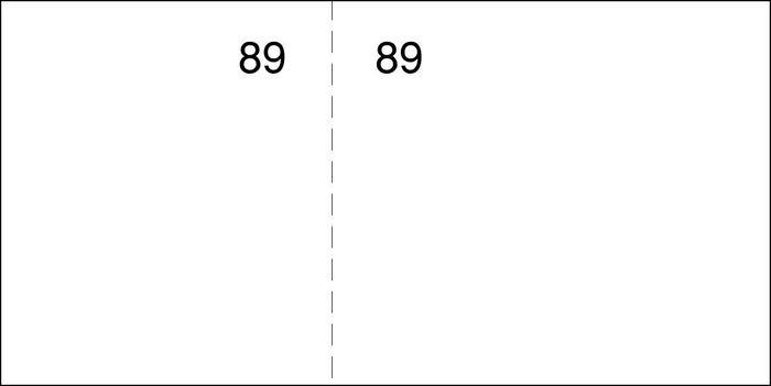 Talonario caja 1/6 del cuarto t-25 blanco