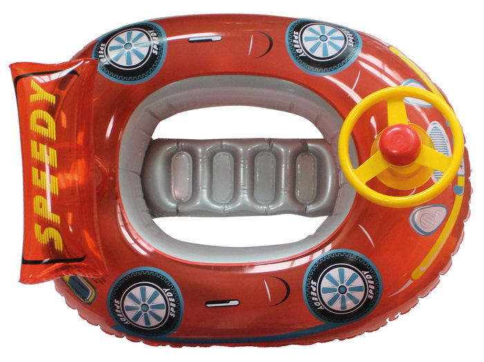 Barca hinchable infantil volante coche 68x50cm surtidos