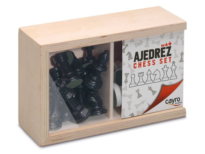 Fichas ajedrez nº4 en caja de madera