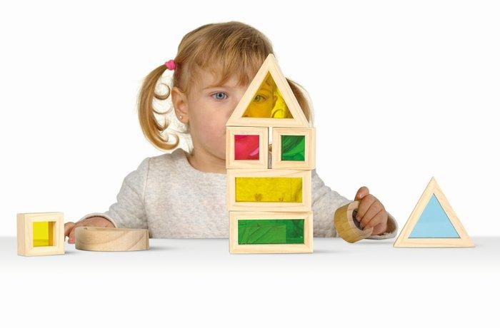 Juego de mesa color blocks