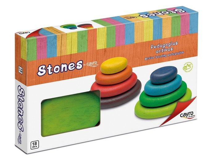 Juego encajable piedras de madera