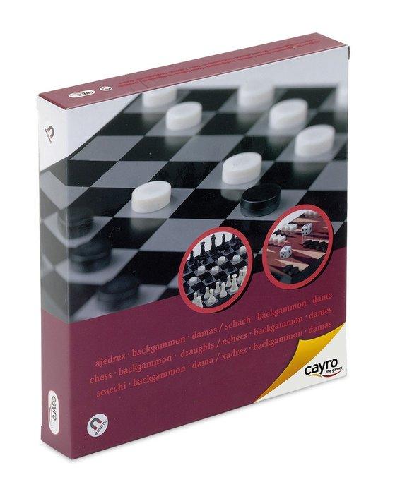 Juego de mesa ajedrez damas backgammon magnetico