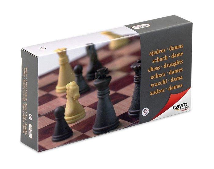 Juego de mesa ajedrez damas magnetico pequeÑo