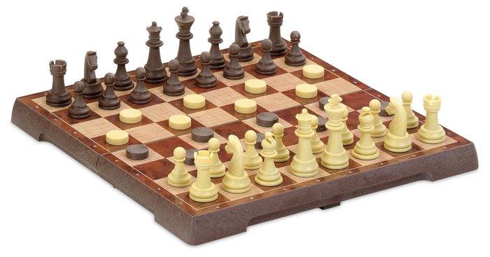 Juego de mesa ajedrez damas magnetico mediano