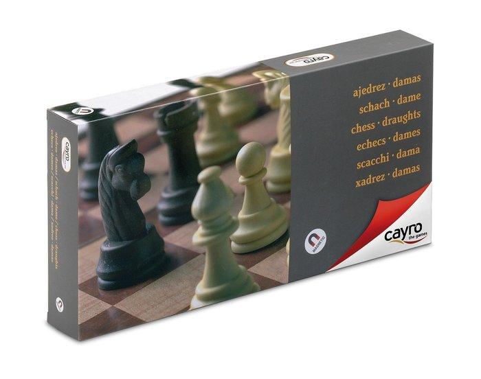 Juego de mesa ajedrez damas magnetico grande