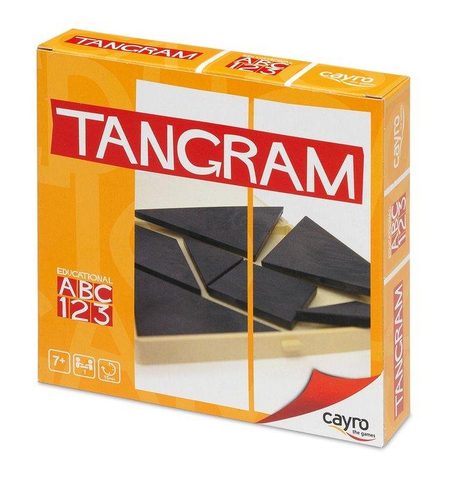 Juego de mesa tangram en caja de plastico