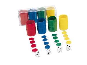 Accesorio parchis 4 jugadores caja plastico