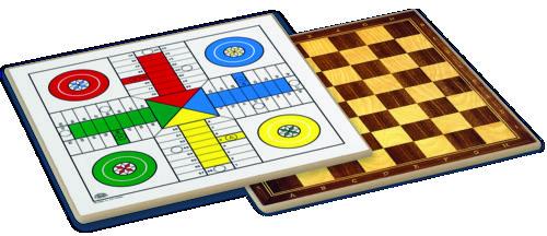 Tablero parchis ajedrez madera 33 x 33 cm