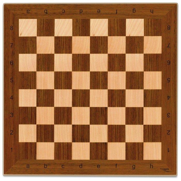 Tablero ajedrez madera 40 x 40 cm