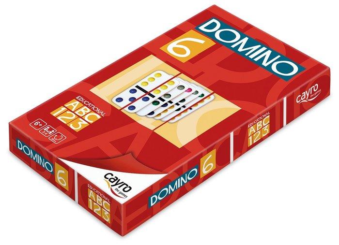 Juego de mesa domino colores doble 6