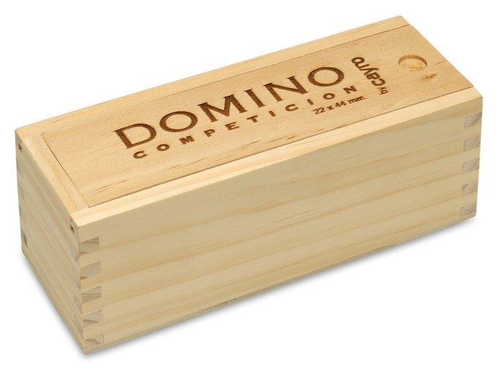 Juego de mesa domino competicion caja madera