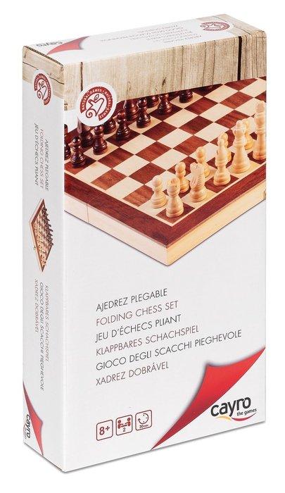 Juego de mesa ajedrez marqueteria plegable 30 x 30 cm