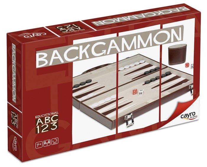 Juego de mesa backgammon polipiel