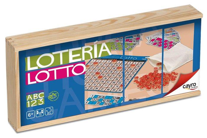 Juego de mesa loteria 48 cartones caja madera