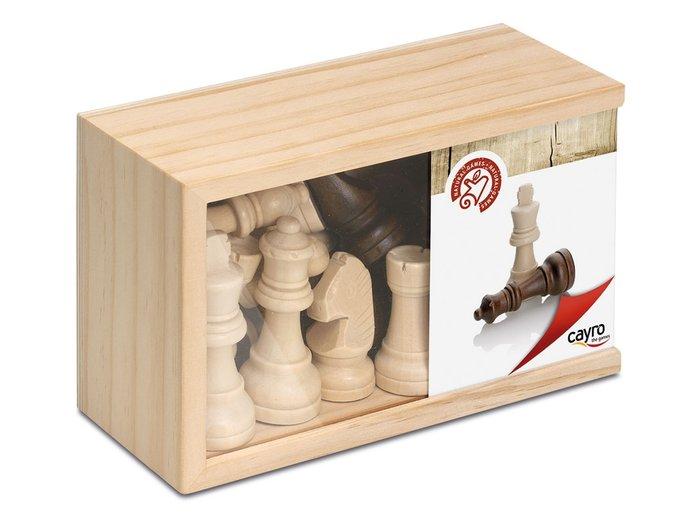 Juego mesa figuras ajedrez madera grandes tapa transparente