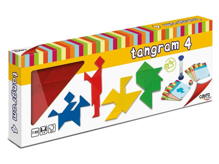 4 tangrams madera