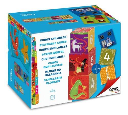 Juego de mesa cubos apilables 10 piezas