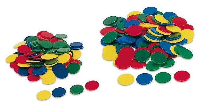 Fichas colores 15 mm bolsa 100 uds