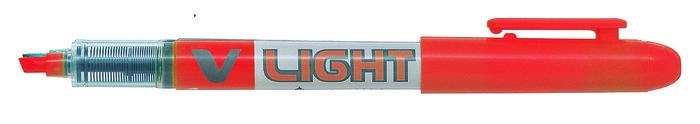 Marcador pilot fluorescente v-ll tinta liquida naranja 1 ud