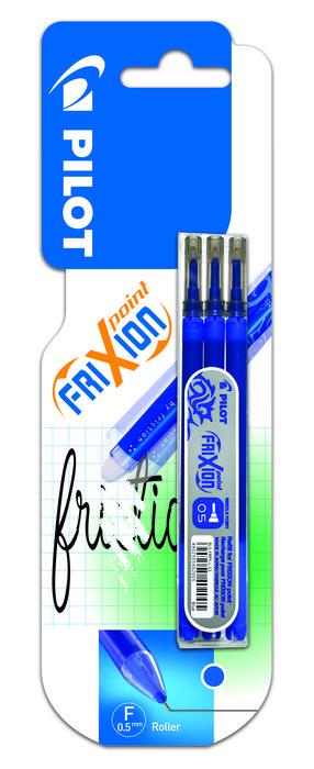 Blister 3 recambios frixion point color azul