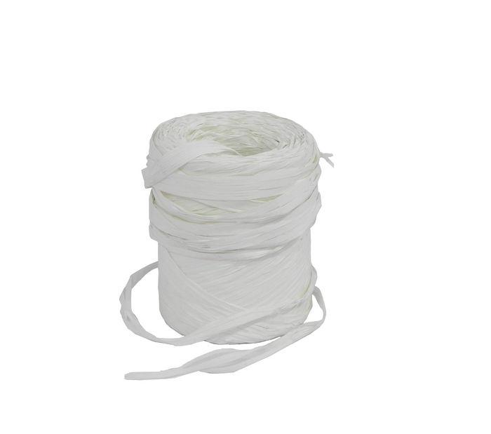 Rollo cinta rafia 15mmx200m blanco